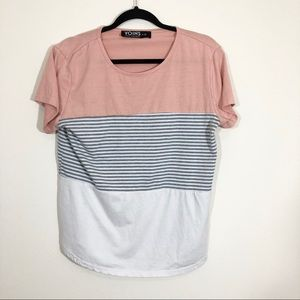 3/$15 Yours Inspiration Striped T-shirt Size XL